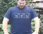 Bazinga Tshirt Big Bang Theory Periodic Table BaZnGa