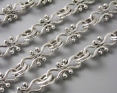 CHAIN-AS-A-17.5MM - 3-Foot Handmade Antique Silver Charm Chain