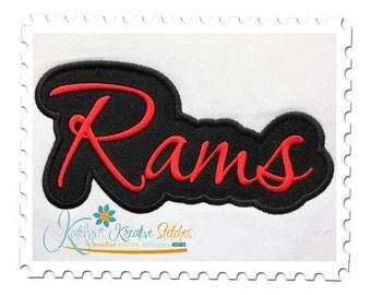 Rams Applique Script