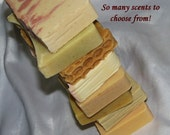 6 Natural SOAP Bars made from Scratch - FREE Soap Dish OR Lip Balm (Choose 6 Scents) Pure Creamy Glycerin Family Soap with Mango Butter!
