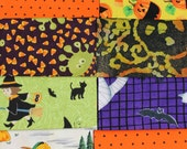 SALE, Halloween Fabric, Halloween Fat Quarters, Halloween Fat Fabrics, Halloween Fabric Bundle, Halloween Clearance, See Listing Details