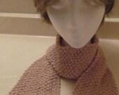 Bernat Beige Knitted Scarf