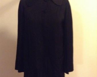 Beautiful 1940s Black Gabardine jacket Small- Medium