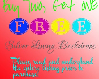Buy 2 Get 1 FREE / Please read all details before purchasing Photography Backdrops