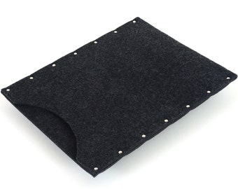 iPad Air Case, Cover, Sleeve black felt cover handmade by SleeWay