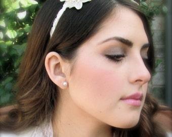 Beige and gold beauty bridal headband