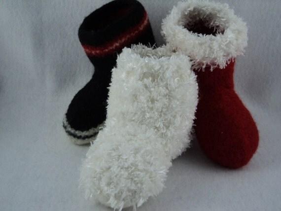 PDF Kids Boot Slipper Felted Wool Knitting Pattern from ...