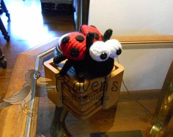 Lola the Ladybug Amigurumi Toy  -MADE to ORDER-  shower gift, Valentine's Day