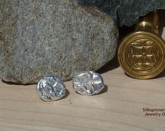 Silver Fragment Earrings for Men & Women/ Silber Ohrstecker Fragment für Männer und Frauen