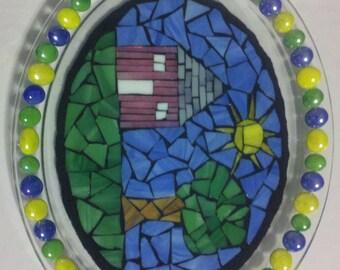 Decorative Mosaic Child Drawing Plate