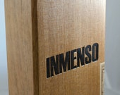 Inmenso Wood Cigar Box, Craft Supply Box, Upcycle / Recycle Project box