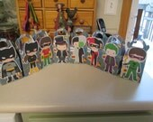 Batman Friends and Foes Inspired Gable Favor Boxes Set of 16