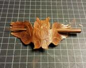 Owl in Flight Leather Hai...