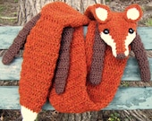 Faux Crocheted Fox Scarf - Made to Order ( ANY COLORS )