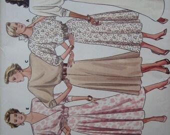 Butterick Pattern 5839 Misses' Dress  1987  Uncut