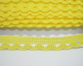 5 yards Bright Yellow Lace Trims, Lace Trim, Crochet Lace Trim, Cotton Lace Trim, Lace Trim Ribbon, Wholesale trim, Yellow lace, yellow trim