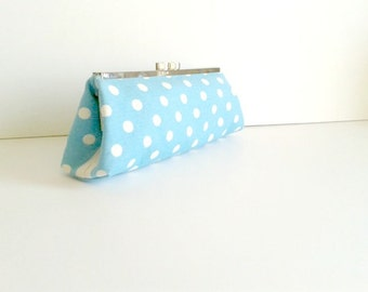 Polka-dot Bridal Accessories-Bridesmaids clutches,Bridal Clutch,Bridesmaid clutch, Wedding Clutch, Wedding Accessories