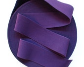 "3"" Eggplant Dark Purple Stretch Elastic Band. (1 Yard)"