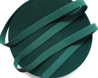 "1"" Dark Green Stretch Elastic Band."