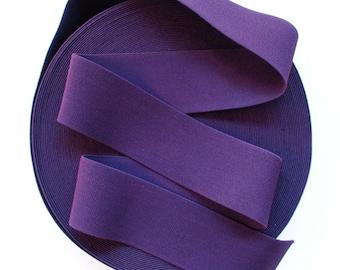 "3"" Eggplant Dark Purple Stretch Elastic Band. (1 Yard)"