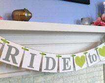 Bride to Be Banner / Bridal Showers / Bachelorette Decorations/ Bridal shower decor /Photo Prop You Pick the Colors