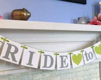 BRIDAL SHOWER Decorations / Bride to Be Banner / Bridal Shower Banner / Bachelorette Decorations /Lime & Gray Bridal or You Pick the Colors