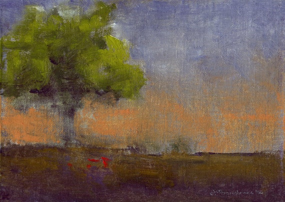 Late to the Day - Original Oil Painting Landscape Painting by Seminary Road Artists