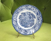 Liberty Blue Staffordshire Blue and White Salad Plate