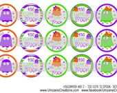 "15 Halloween Mix 2 - Too Cute To Spook Digital Download for 1"" Bottle Caps (4x6)"