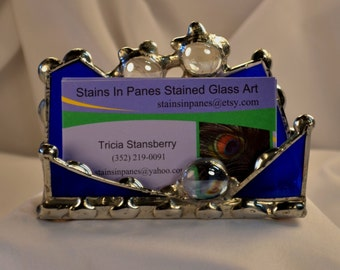 Stained Glass Custom Business Card Holder Let Me Design A Card Holder Just For You