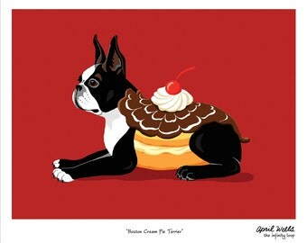 Boston Cream Pie Terrier 8 X 10 Print
