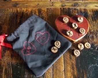 Reclaimed Barn wood Tic Tac Toe Heart Play a little xoxo's