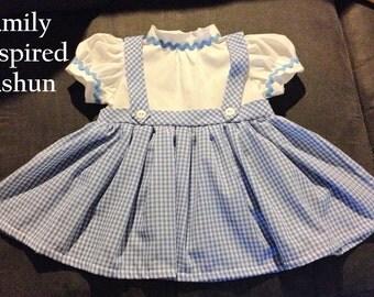 Dorothy costume sizes NB-24 mos