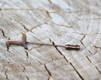 "Vintage Initial ""L"" Stick Pin"