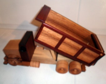 Wooden Dump Truck construction grade handcrafted by