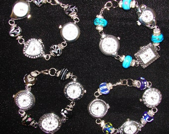 Multi-watch bracelets with Dione bead links