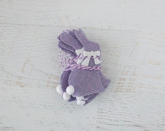 SALE Burlap Cottontail Purple Bunny Bunting Garland
