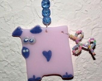 Pig Glass Ornament