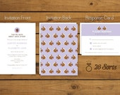 Squirrel Wedding Invitations - animals, nuts, squirrels, nuts about you, clever, funky, fun, woodland