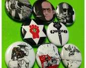 "8 Brand New 1"" ""Hunter S Thompson"" Button Set"