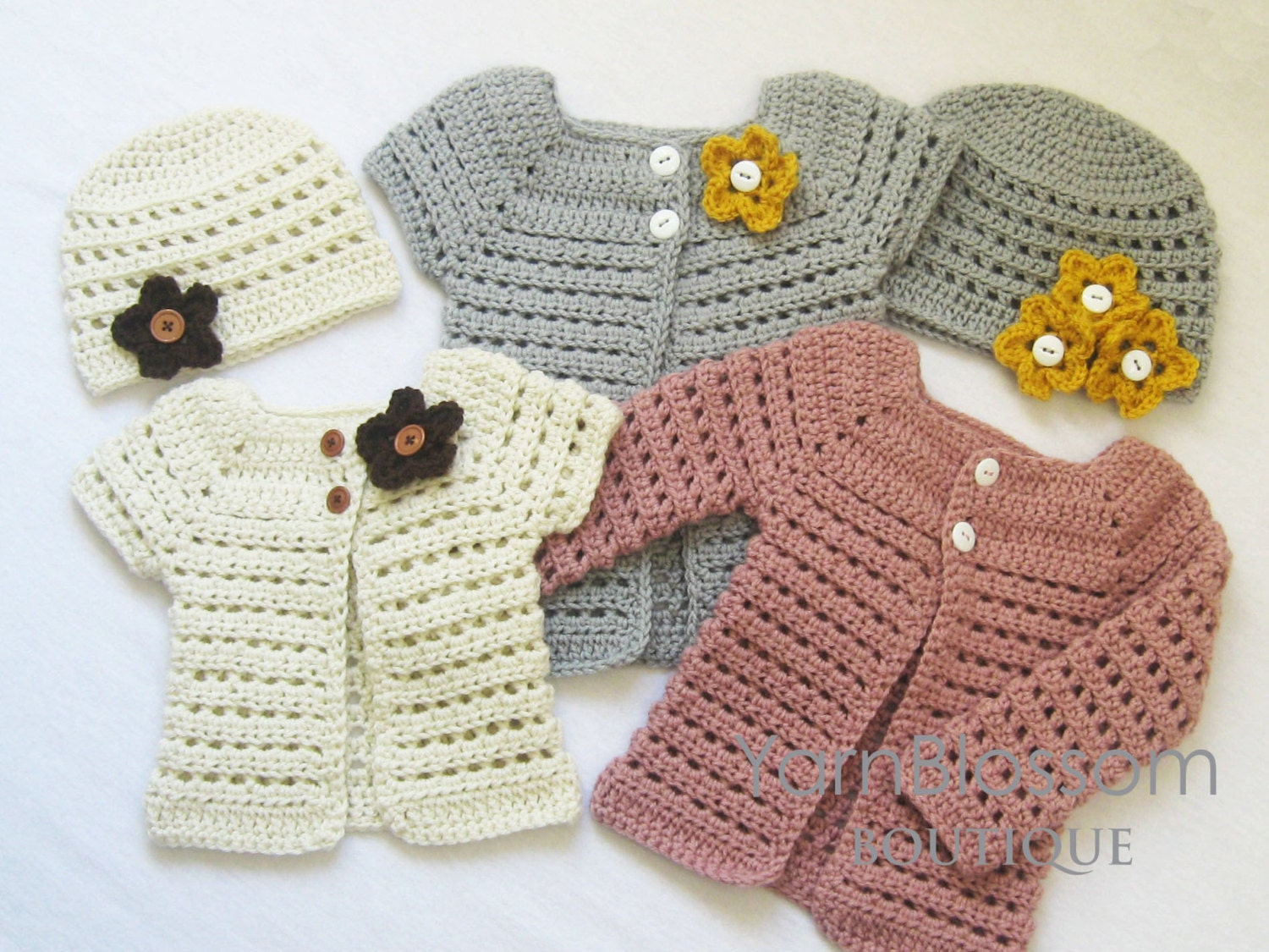 CROCHET PATTERN Toddler Cardigan & Beanie 4 by ...