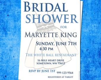 Printable Bridal Shower Invite (BDS9)
