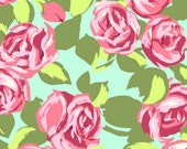 Love tumble roses - Cotton Fabric by the yard Amy Butler's Love collection NOT laminated coral rose