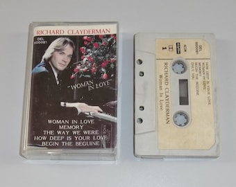 1980s MC Music Cassette Tape: Woman in Love by Richard Clayderman.