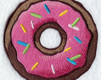 Sprinkled Donut Embroidered Flour Sack Hand/Dish Towel