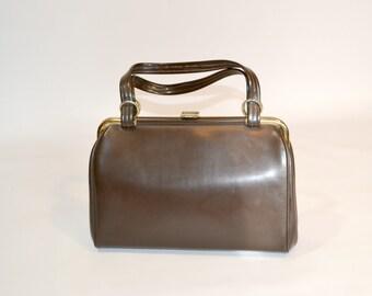 1950s/1960s Sable/Chocolate Milk Brown Handbag Purse by Aetna