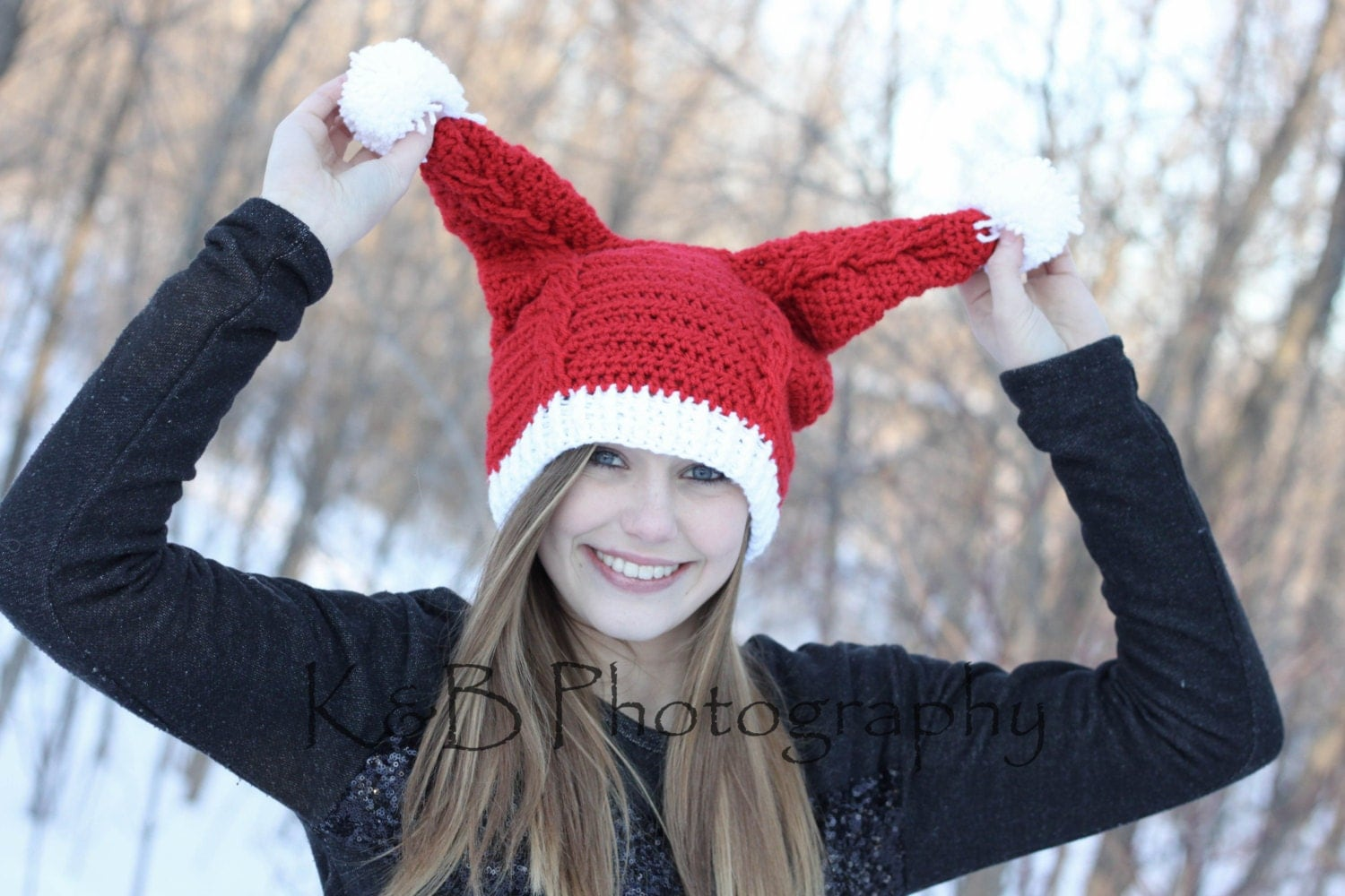 Pennys santa hat crochet pdf pattern instant download zoom bankloansurffo Images