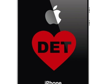 Detroit Love - I Heart Detroit Decal for iphone, ipad, Laptop, Car