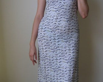 British India grey midi/maxi dress, 90s, 50% OFF