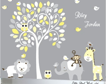 White tree decal, wall decal tree, tree white kids, baby wall decal, decal baby tree, nursery tree decal, decal tree, curl tree decal